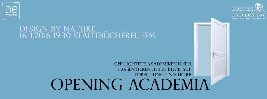 Opening Academia 16.11.16