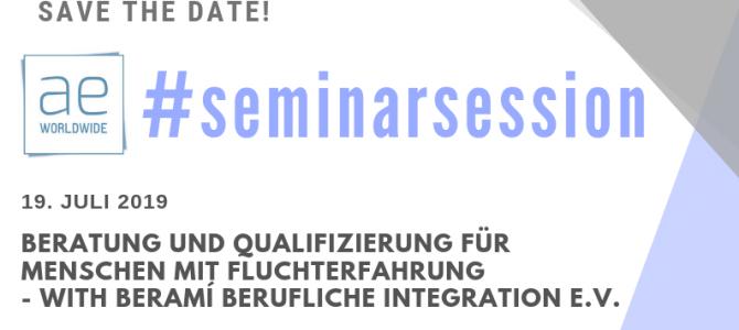 """aeWorldwide-Seminar zum Thema """"Qualifizierung für Geflüchtete"""" mit beramì"""